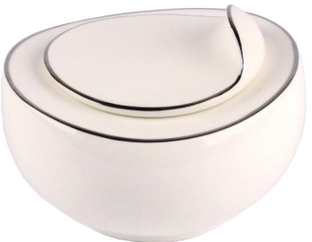 Quality Ceramic Sense Platinum Sugar Bowl 230ml