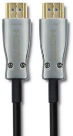 Qoltec HDMI/HDMI AOC Cable Black/Silver 30m
