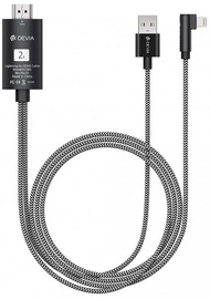 Devia Storm Series HDMI To Apple Lightning Cable Black