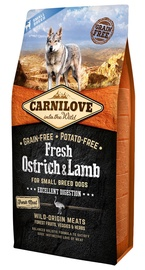 Carnilove Adult Dog Small Breeds Fresh Ostrich & Lamb 6kg