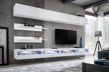 ASM Fly T4 Living Room Wall Unit Set White