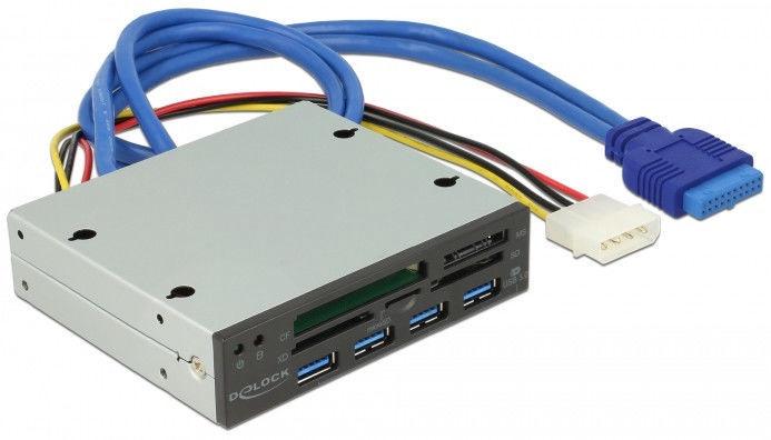 Delock 3.5″ USB 3.0 Card Reader / USB Hub