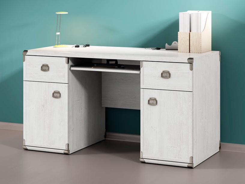Black Red White Indiana Desk 140cm White