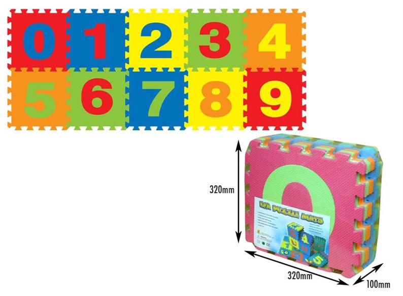 Žaislinė dėlionė - kilimas, Skaičiai, 10 dalių