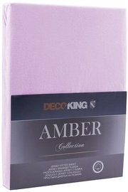 Palags DecoKing Amber, violeta, 120x200 cm, ar gumiju