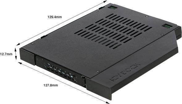 """Icy Dock ToughArmor MB411SPO-1B 2.5"""" SATA / SAS Mobile Rack For 12.7mm Slim Optical Bay"""
