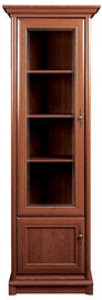 Black Red White Glass Door Cabinet Left 70x204x43cm Chestnut