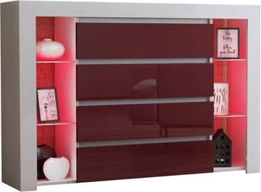 Kumode Pro Meble Milano 4SZ White/Red