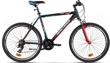 """Vaikiškas dviratis Monteria MRX 17"""" 26"""" Black Red Blue 20"""