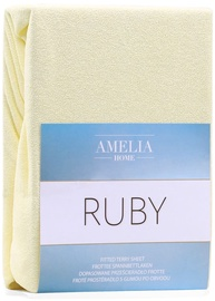 AmeliaHome Ruby Frote Bedsheet 100-120x200 Light Yellow 03