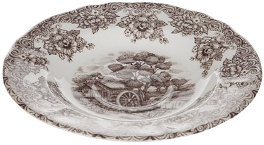 Claytan Water Wheel Soup Plate 20.3cm Brown