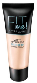 Kreminė pudra Maybelline Fit Me Matte + Poreless 105 Natural Ivory, 30 ml