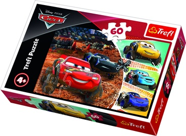 Puzle Trefl Disney Cars 3 Lightning McQueen With Friends 17327, 60 gab.