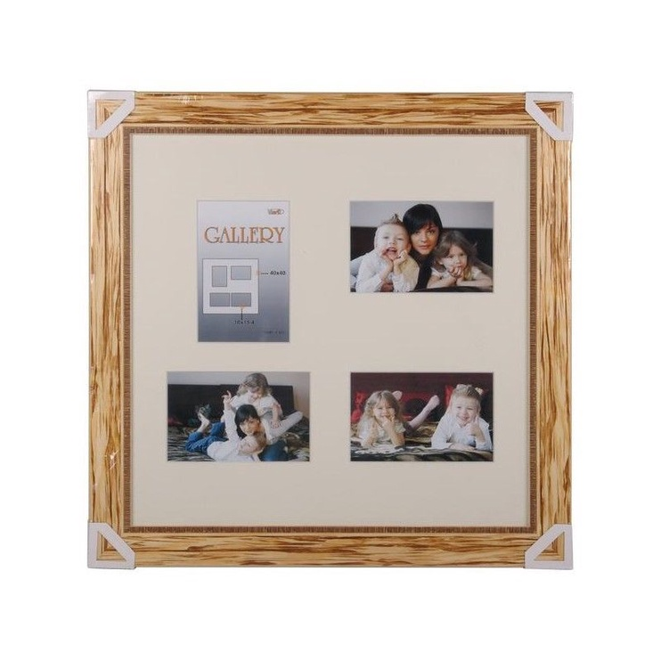 Victoria Collection Retro Gallery 40x40cm Natural Wood