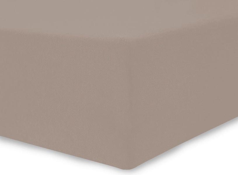 Palags DecoKing Amelia Cappuccino, 160x200 cm, ar gumiju