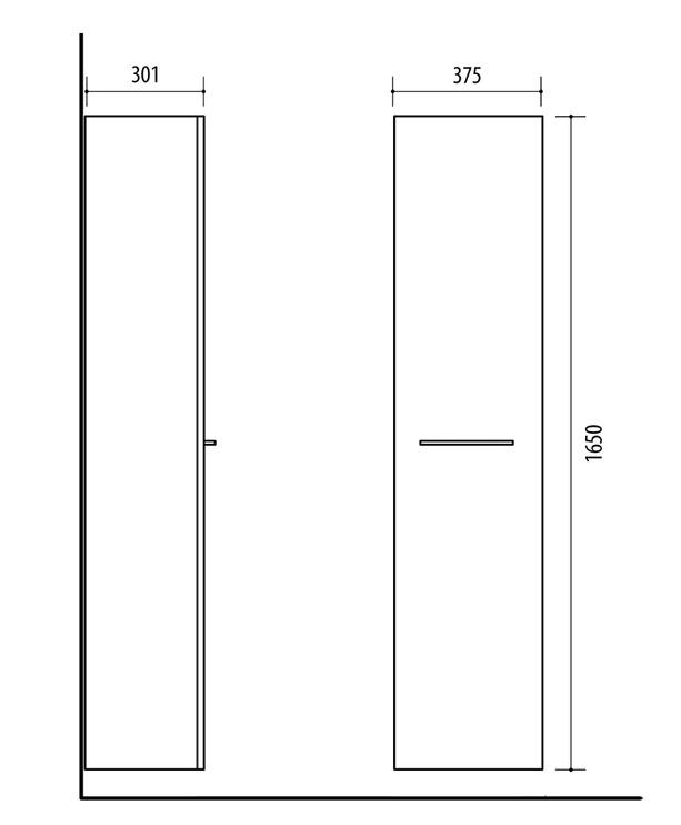 Шкафчик для ванной Riva SU38 Дуб Сонома