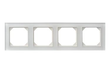 Keturvietis rėmelis Liregus K14-245-04, baltas, blizgus
