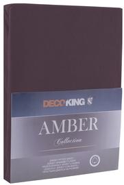 Palags DecoKing Amber, brūna, 90x200 cm, ar gumiju