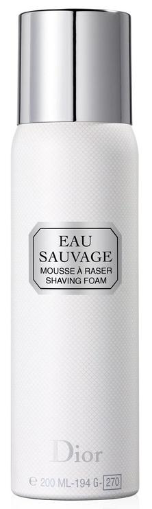 Skūšanās putas Christian Dior Eau Sauvage, 200 ml