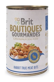 Konservi suņiem Brit Boutiques Gourmandes Rabit True Meat Bits 0,4kg