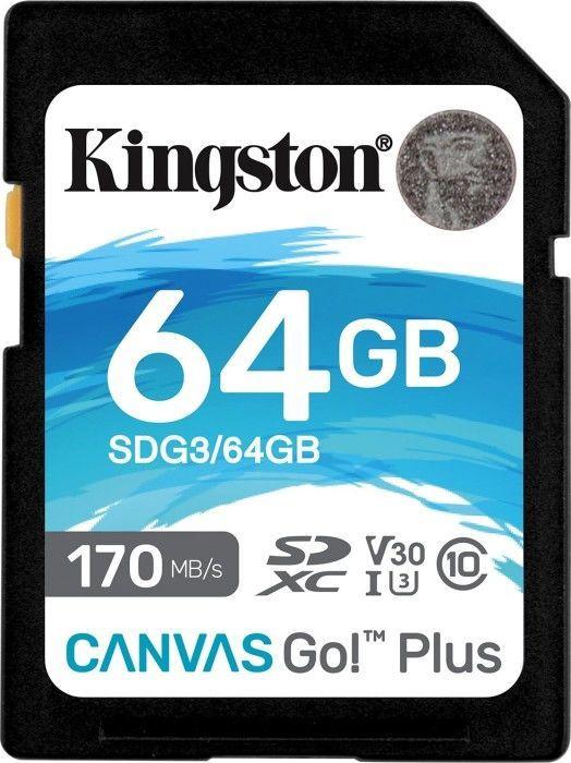 Карта памяти Kingston Canvas Go! Plus 64GB SDXC UHS-I Class10