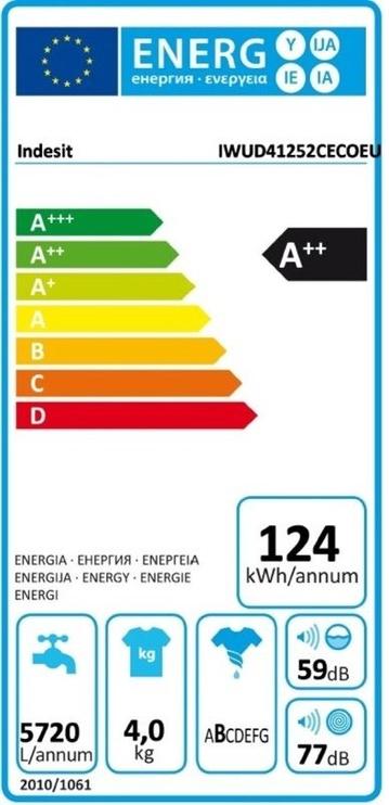 Skalbimo mašina Indesit IWUD 41252 C ECO EU