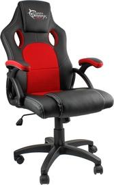 Игровое кресло White Shark Kings Throne, черный/красный