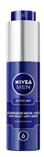 Veido kremas Nivea Men Night Regenerator Active Age, 50 ml