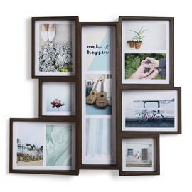 Umbra Edge Multi Photo Frame Walnut