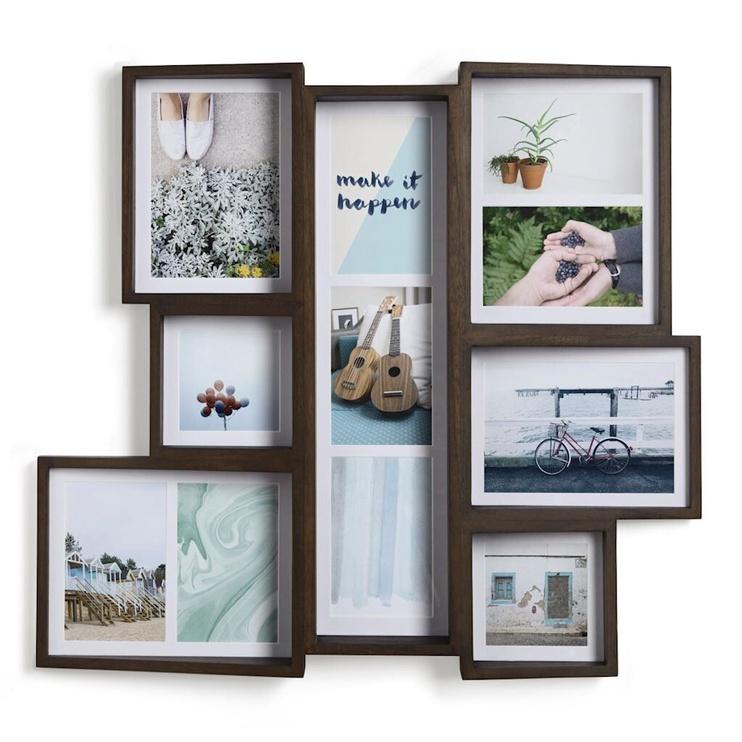 Umbra Edge Multi Photo Frame Walnut