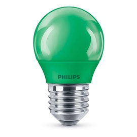 SPULDZE LED P45 7W ZAĻĀ E27 10KH (PHILIPS)