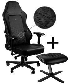 Noblechairs HERO Gaming Chair Black/Black+Footrest Black