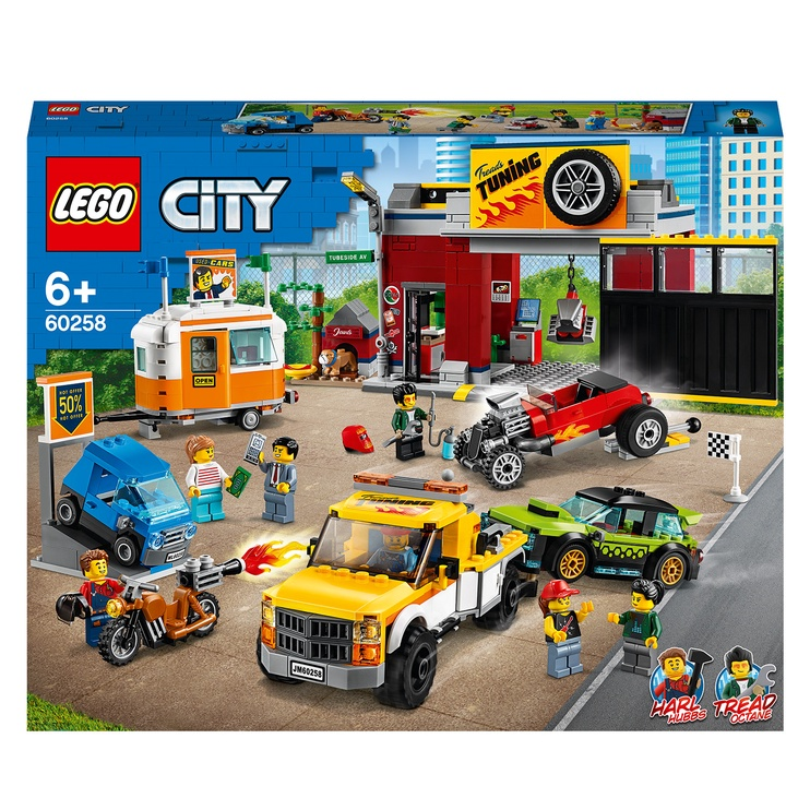 Конструктор LEGO City Тюнинг-мастерская 60258, 897 шт.
