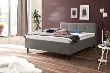 Gulta Meise Möbel Amelie Graphite Base Light Gray, 200x140 cm