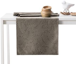 AmeliaHome Gaia AH/HMD Tablecloth Cappuccino Set 115x250/35x250 2pcs