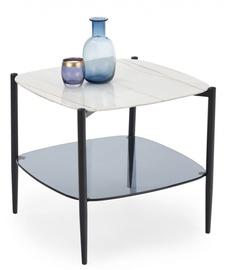 Kafijas galdiņš Halmar Gemini Marble/Black, 550x550x500 mm