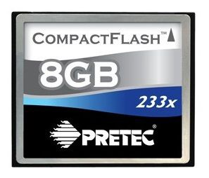 Pretec 8GB Cheetah II CompactFlash 233x