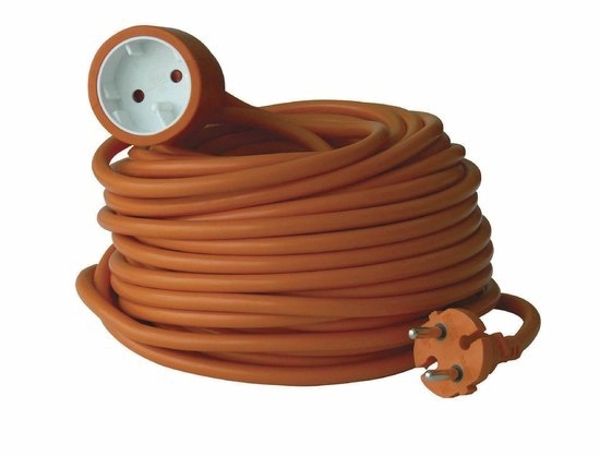 Extension cord Electraline 2G1.5VVF 1P, 40 m, orange