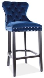 Bāra krēsls Signal Meble August H-1 Velvet, zila/melna