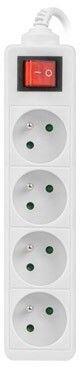 Lanberg Power Strip 1.5m White PS1-04E-0150-W