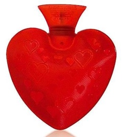 Fashy Hot Water Bottle Heart 6410 0,7l Red