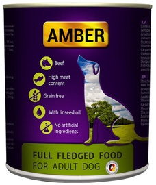 Amber Complete Food Adult Dogs Beef 800g 6pcs