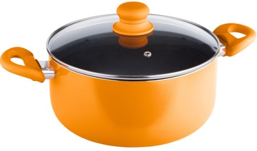 Lamart Casserole with Lid 5.2l 24cm Orange