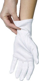Pap Star Cotton Gloves M White