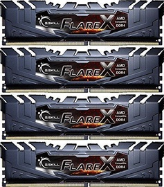 G.SKILL Flare X for AMD 64GB 2933MHz CL16 DDR4 KIT OF 4 F4-2933C16Q-64GFX