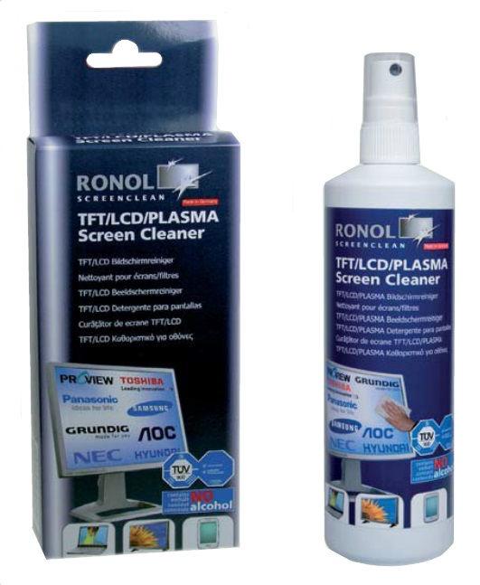 Ronol TFT/LCD/PLASMA Screen cleaner 125ml + Wipes