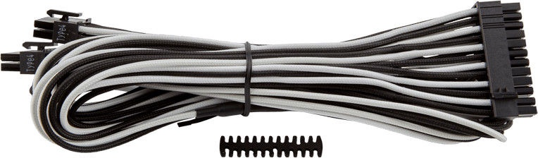 Corsair Premium Individually Sleeved ATX 24-Pin Cable Type 4 (Gen 3) White/Black