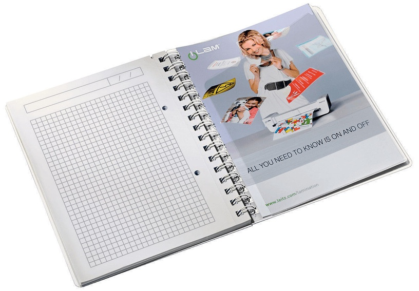 Leitz WOW Notebook A5 Wirebound With PP Cover Orange