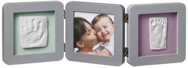 Baby Art Double Print Frame Grey