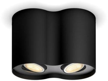Philips Pillar Double Spotlight Black